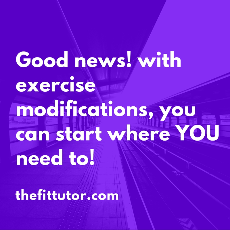why exercise modifications are important