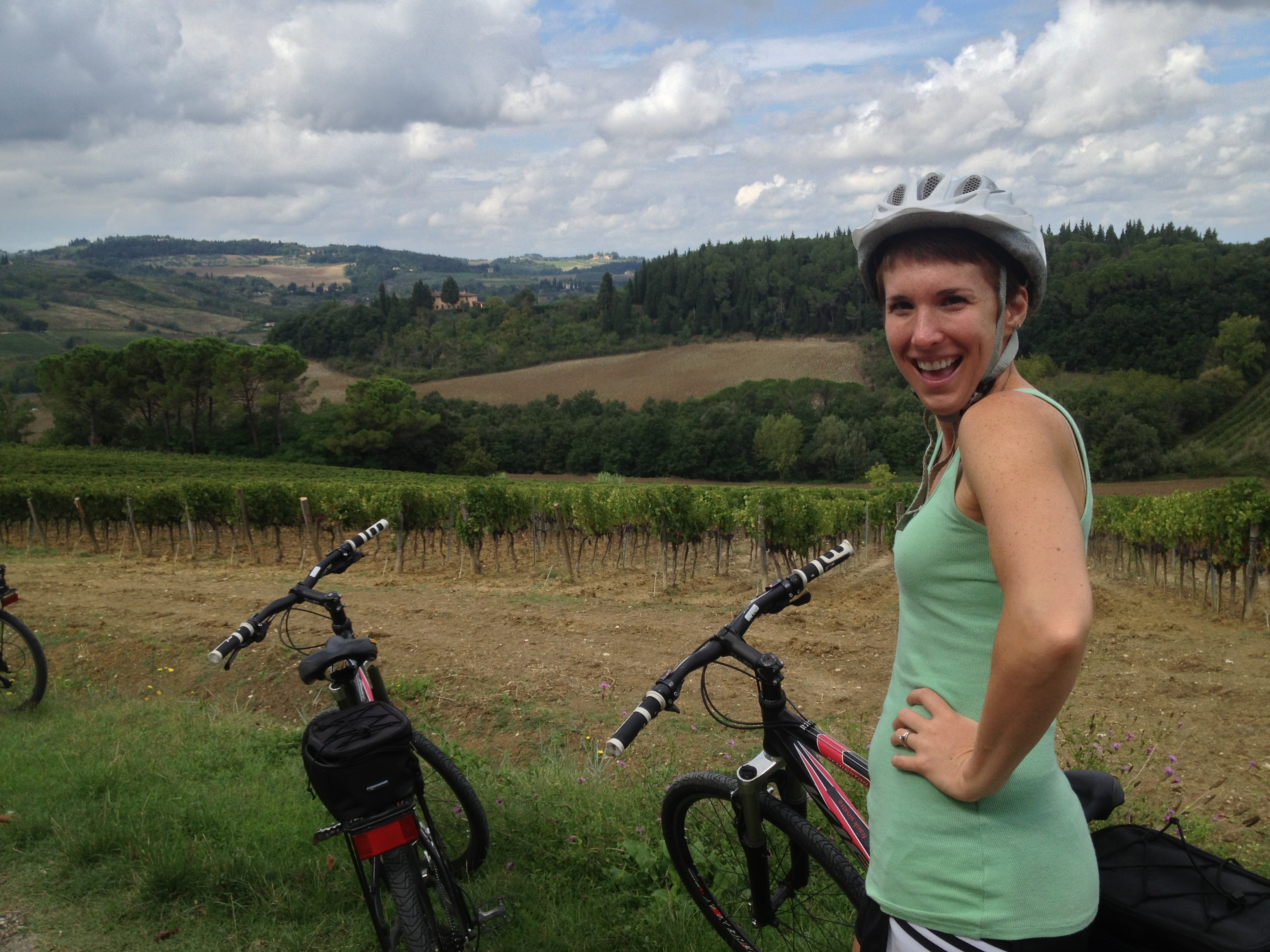 Here's me, bein' cheesy in Tuscany!