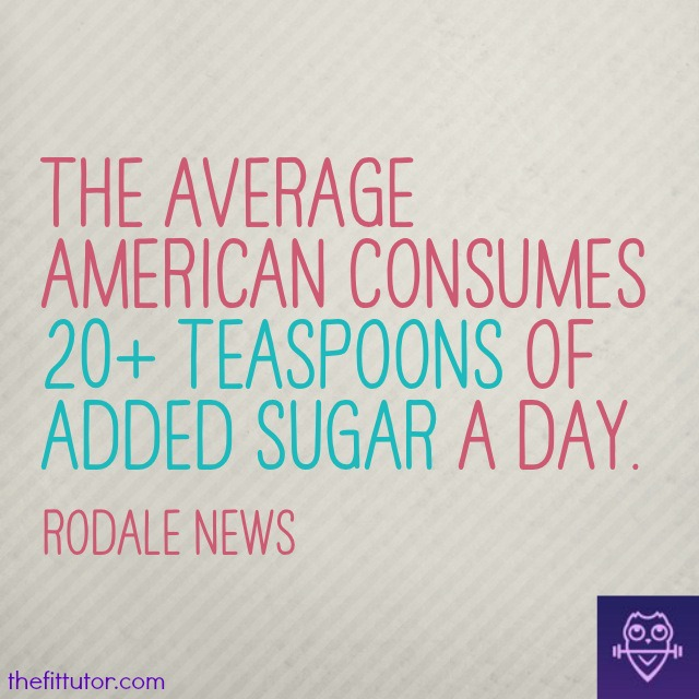 The average #american consumes 3x more #sugar than recommended! It's killing us! Learn why you should ditch #sugar ASAP - read this blog by @thefittutor!