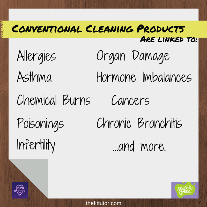 Conventional #Cleaning Products are linked with horrible side effects! Read this #green cleaning guide!