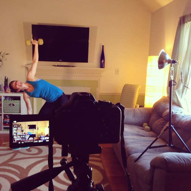 Filming new Fit Tutor videos- online #workouts for $11.99/mo!