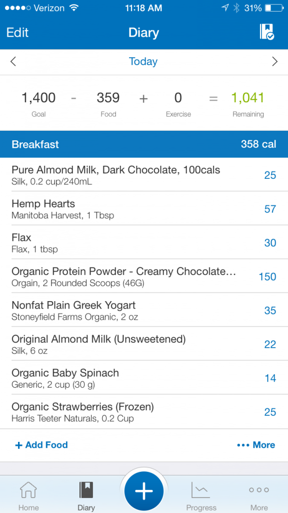 myfitnesspal on the go meal recipe // super shake // protein shake recipe