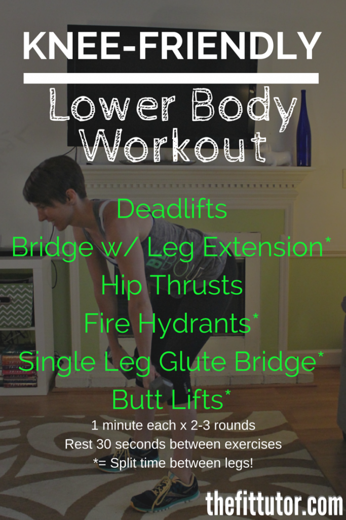KNEE-FRIENDLY lower body workout