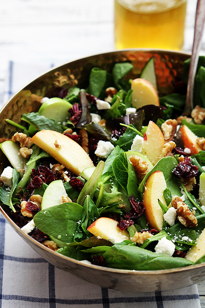 Crème de la Crumb // Healthy Fall Recipes // Apple Walnut Cranberry Salada