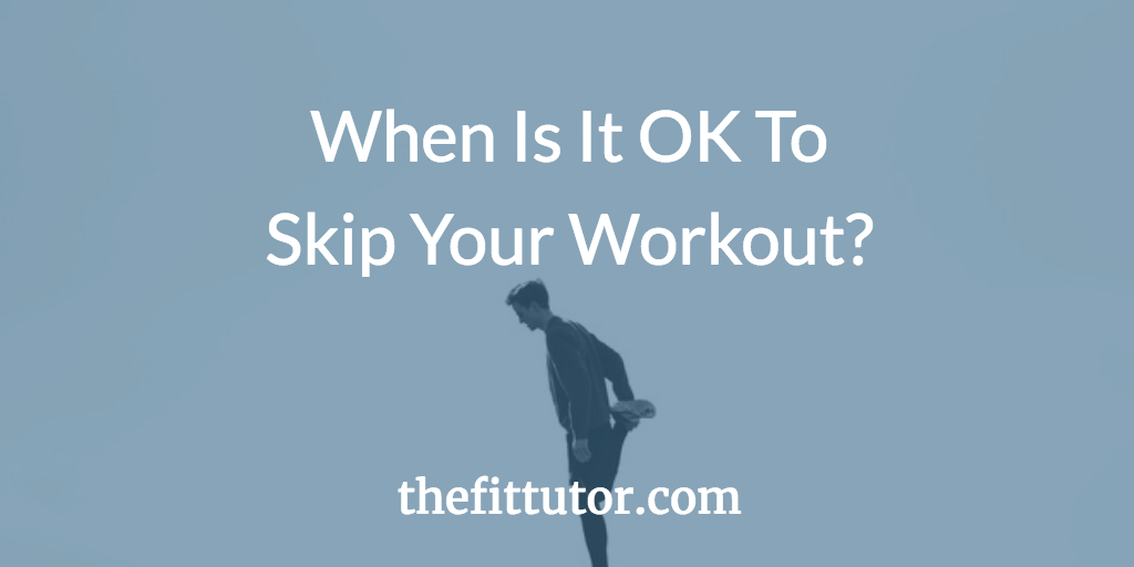 when is it OK to skip your workout? some people need to set clear boundaries so they actually make progress! life happens- here's how to still get results!