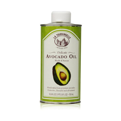 Avocado Oil has a high smoke point, so it's great for sautéing and grilling. It's also great for salad dressing. It's great for getting healthy fats and antioxidants into your diet, and it's great for your skin because it's chock full of Vitamin E!
