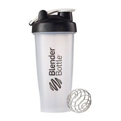 A great, affordable shaker bottle for protein shakes on the go! Great for a meal replacement shake or greens smoothie for the road as well!