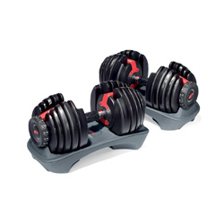 Save space and money & increase your strength/gains/metabolism with adjustable dumbbells! These from bowflex are a great option!