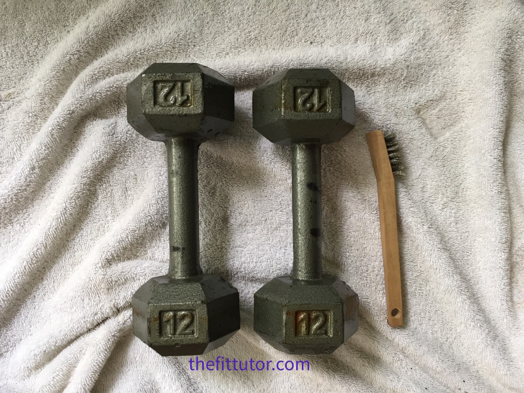How to Restore Old Rusty Weights- a step by step tutorial #DIY