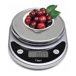This accurate, easy to use scale measures food to help you execute a recipe perfectly or ensure you reach your weight loss goals! Tare & conversion buttons make measuring easy!