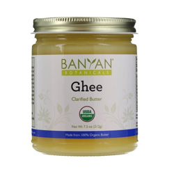 Organic clarified butter from grass-fed cows. Ghee is lactose free and great for non-dairy cooking and baking- rich flavor