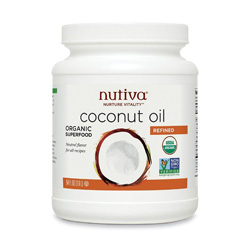 Every home needs coconut oil. This expeller-pressed oil has a higher smoke point that virgin, and is great for face and skin care, cooking, baking, coffee, deodorant, etc. Refined is good if you or a family member can't handle the coconut flavor- this is a very neutral flavor.