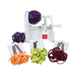 Vegetable noodles are a great way to get your pasta fix without gaining four pounds immediately. This Paderno spiralizer helps ensure you can have your zoodles without stress.