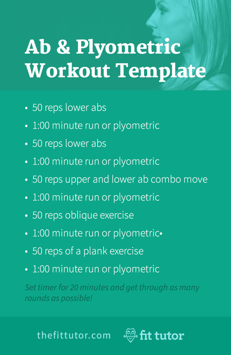 Do this killer ab workouts and plyometric workout to strengthen your core, lose weight, and get great results! #fitness #workouts #abs #cardio #plyometrics #HIIT