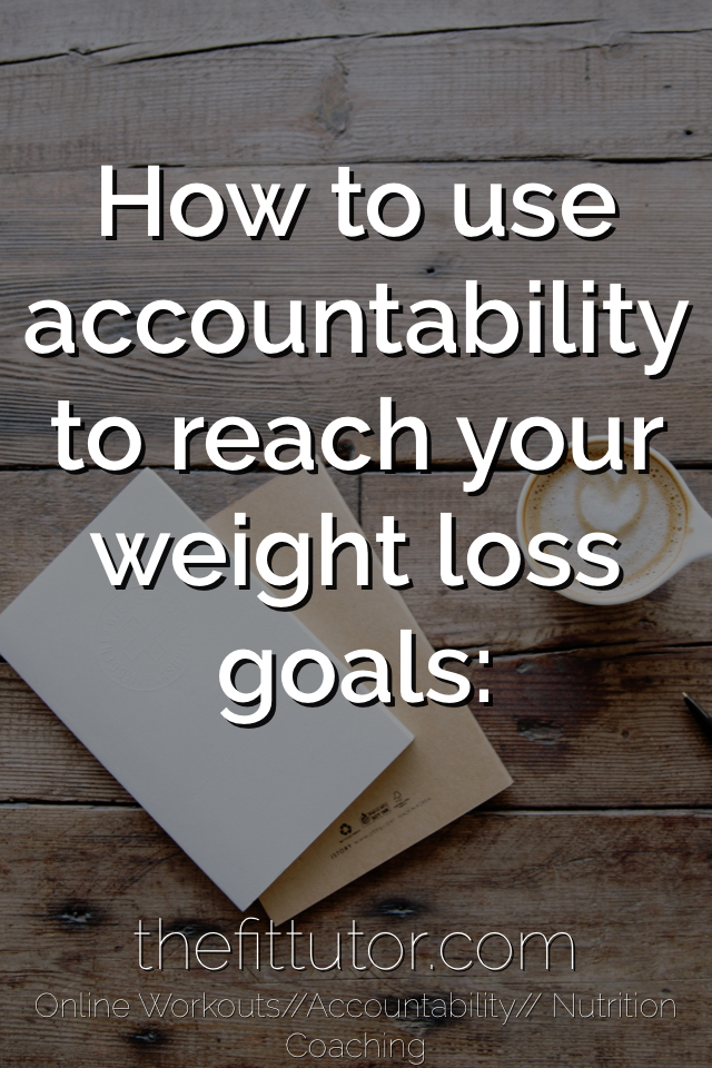 how accountability and a goals contract can be the ONE thing you need to reach your fitness goals!