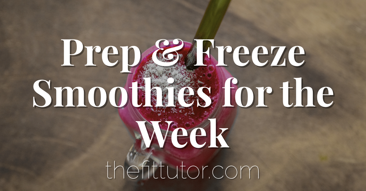 Save time, energy, and lose weight with make ahead freezer smoothies! How to + recipes!