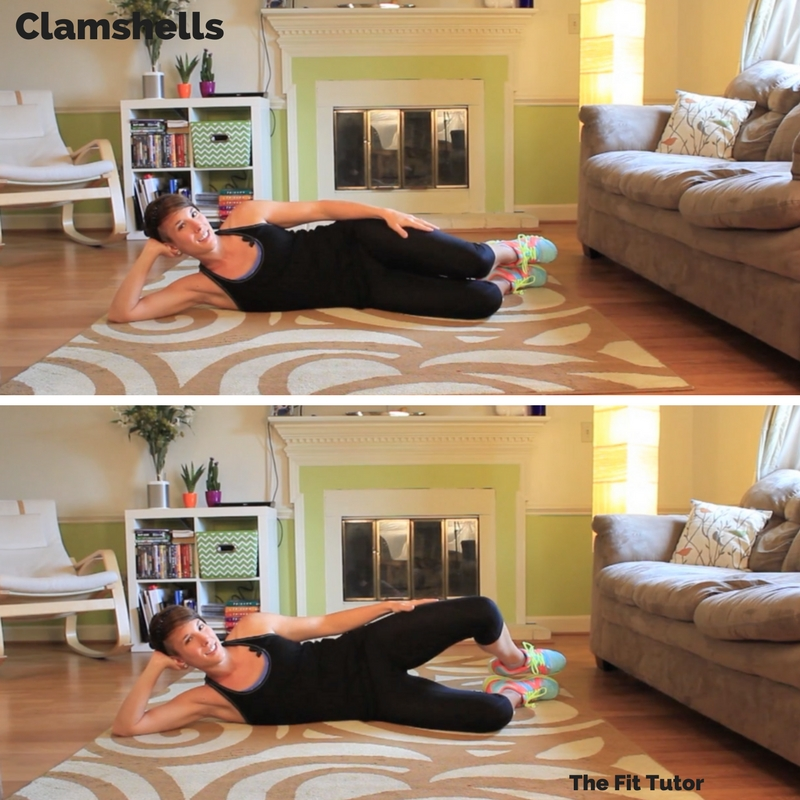 clamshells help strengthen weak muscles commonly found in runners: great Strength Exercises for runners