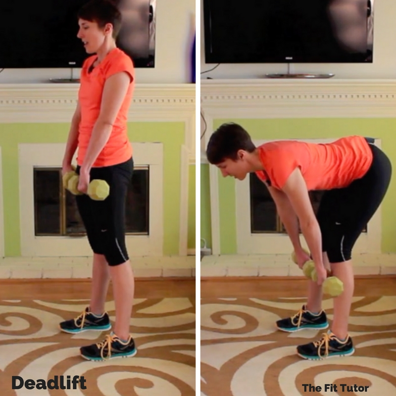 straight legged deadlifts are awesome leg strength exercises for runners to improve performance and prevent injury