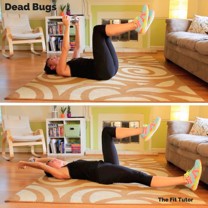 dead bugs are on my top list of exercises for runners // Strength Exercises for runners