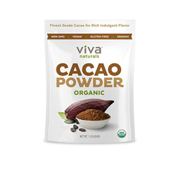 Cacao is rich in antioxidants and high in magnesium! It helps reduce anxiety and is great for smoothies and baking!