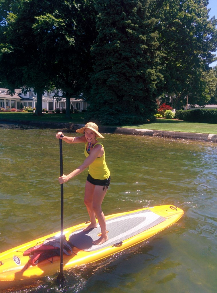 paddle board // avoid weight gain on vacation