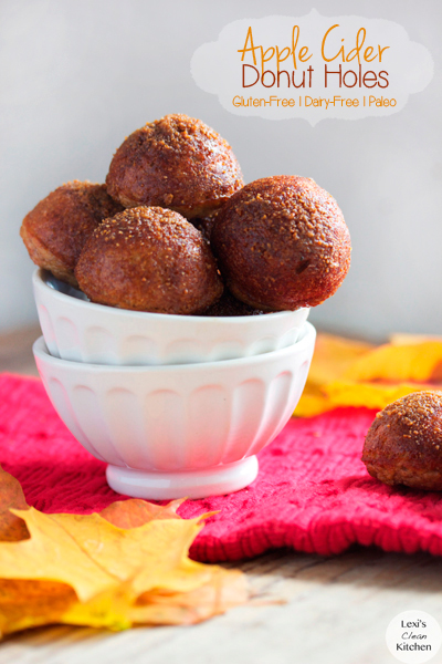 Healthy Fall Recipes// Lexi's Clean Kitchen // Apple Cider Donuts