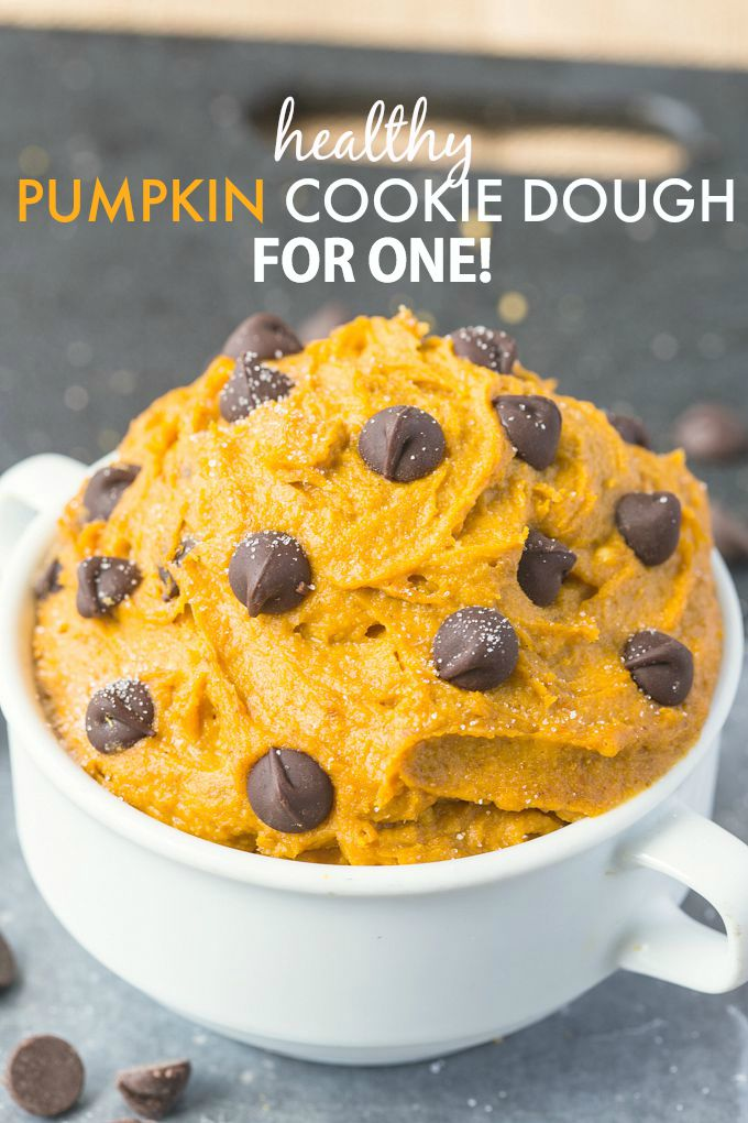 Healthy Fall Recipes // The Big Man's World // Pumkin Cookie Dough for One