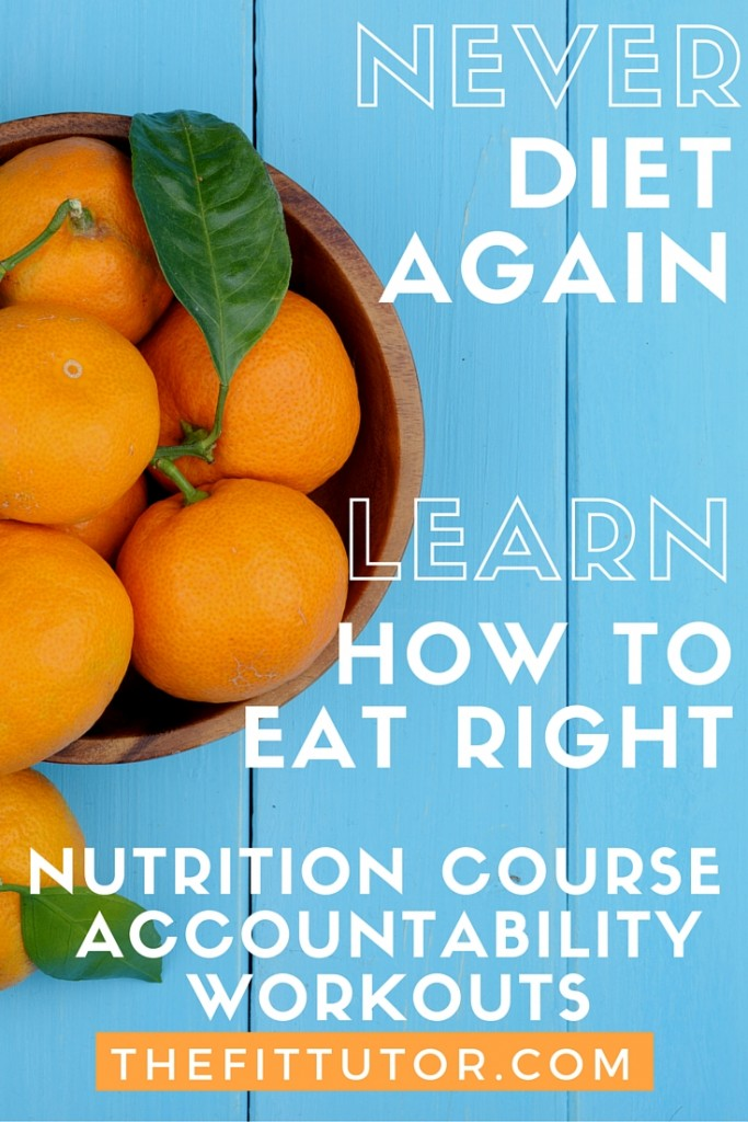 Stop Dieting & learn how to eat right // online affordable nutrition course