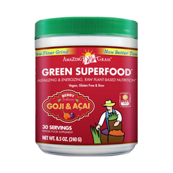 amazing grass greens- berry flavored- boosts immunity, alkalizes, detoxes, boosts energy