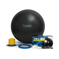 An exercise ball is a great addition to any home gym! It helps challenge different muscles, work your core, and is a great way to take your workouts up a notch!