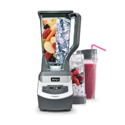 This Ninja blender is effective and affordable and will help you make the perfect greens-protein smoothie and help you liquify soups too! It comes with 2 to-go shake cups which make it a great buy!