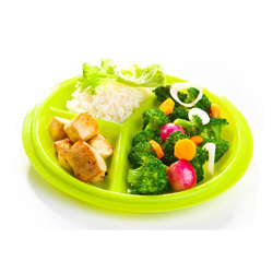 These portion control plates are great for families. Portion control is crucial to helping control your weight, and research shows eating off these plates (and smaller plates) helps reduce calorie intake by 20%!