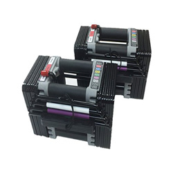 These Power Block Adjustable DUmbbells go from 5-50 lbs-- all most people would need for a home gym! Totally worth the upfront cost to reach your goals and really save space!