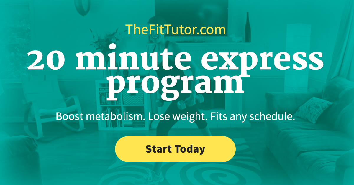 Get the body you want in only 20 minutes! Program designed by a nationally certified trainer and nutrition coach. Can be done at home or in the gym! Affordable and effective!