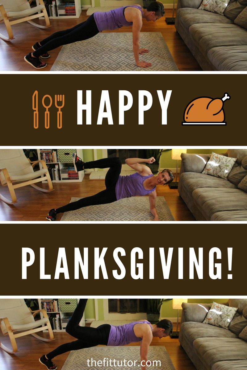 Treat your core and body right by celebrating Planksgiving this year! Do these 12 planks to fight the holiday pooch! #planks #planksgiving
