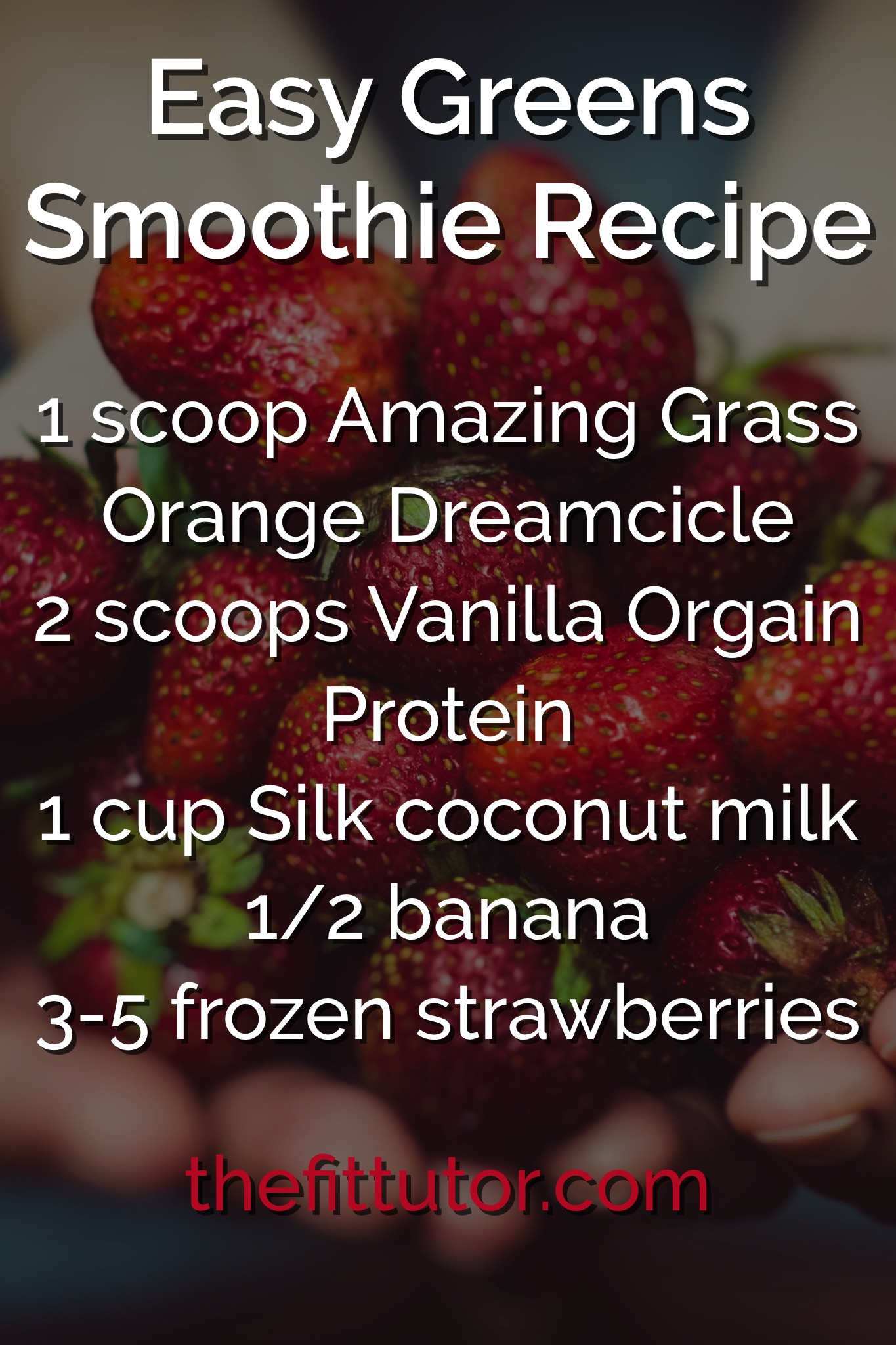 Splurging this holiday season? We replace our normal healthier foods for our cravings and once a year treats- have this smoothie daily to help ensure you get enough protein and greens/veggies while you're being naughty!
