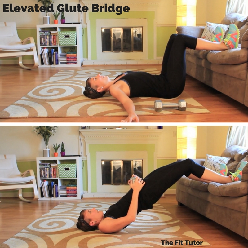 elevated glute bridges are awesome exercises for runners // Strength Exercises for runners