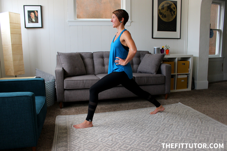 This crescent lunge is a great way to stretch your hips. Not forcing yourself into the pose is key, and keeping good posture and integrity in your hips! Try this one + other hip flexor stretches to help you feel great!