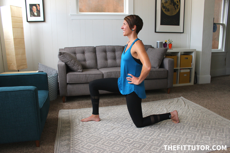 you've probably been doing this kneeling hip flexor stretch wrong! here's the right way + other hip flexor stretches to help you feel great!