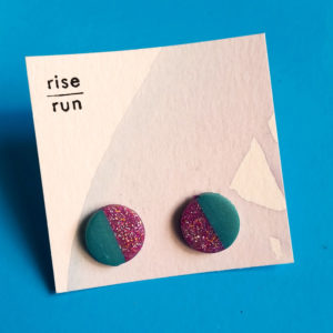 workout and lifestyle-friendly earrings? handmade by a local artist? yes please! these make the perfect gift for your fit friend, or someone who always has to rock stud earrings! ethical gift guide