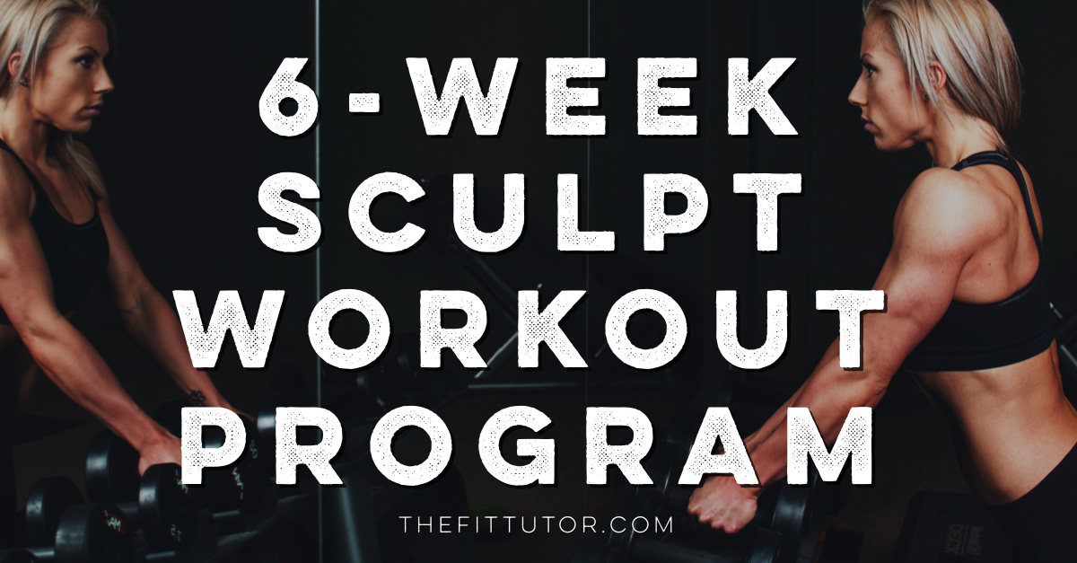 6 week workout program // 6 week sculpt // at home workout program
