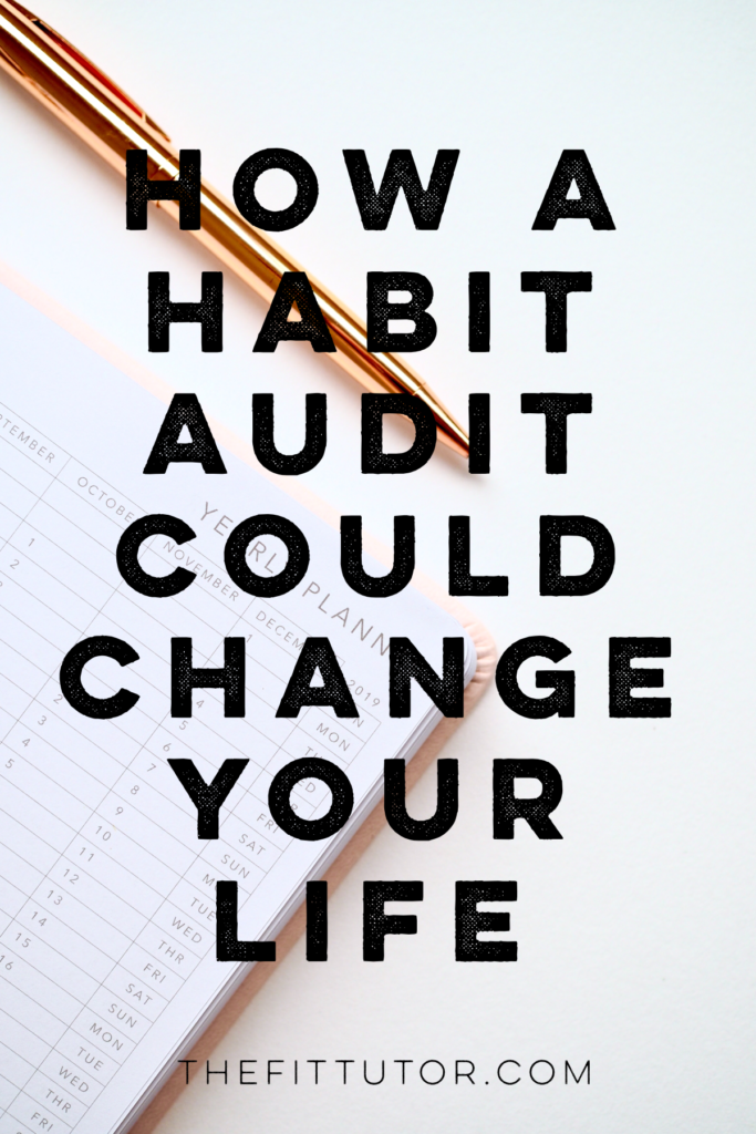 knowing where and how you spend your time is step 1 to changing your life. check out why and how to perform a habit audit! it's simple and easy!
