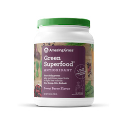 amazing grass greens- sweet berry flavored- boosts immunity, alkalizes, detoxes, boosts energy, check out my fave healthy living products