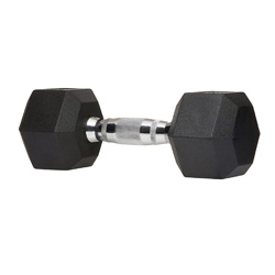 dumbbells with a nice rubber coating- won't chip, very durable