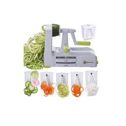 one of my fave healthy living products- Vegetable noodles are a great way to get your pasta fix without gaining four pounds immediately. This spiralizer helps ensure you can have your zoodles without stress.